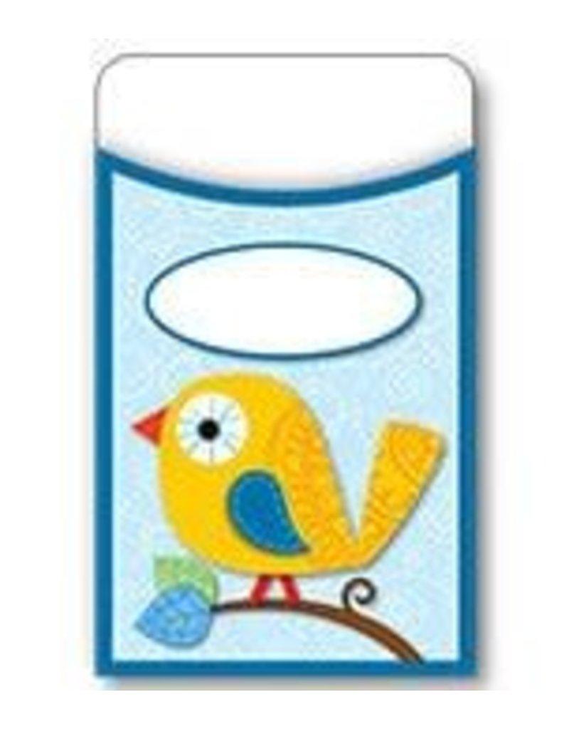 Boho Birds Library Pockets (Regular)