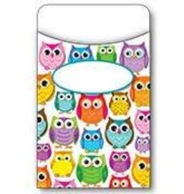 Colorful Owls Library Pockets (Regular)