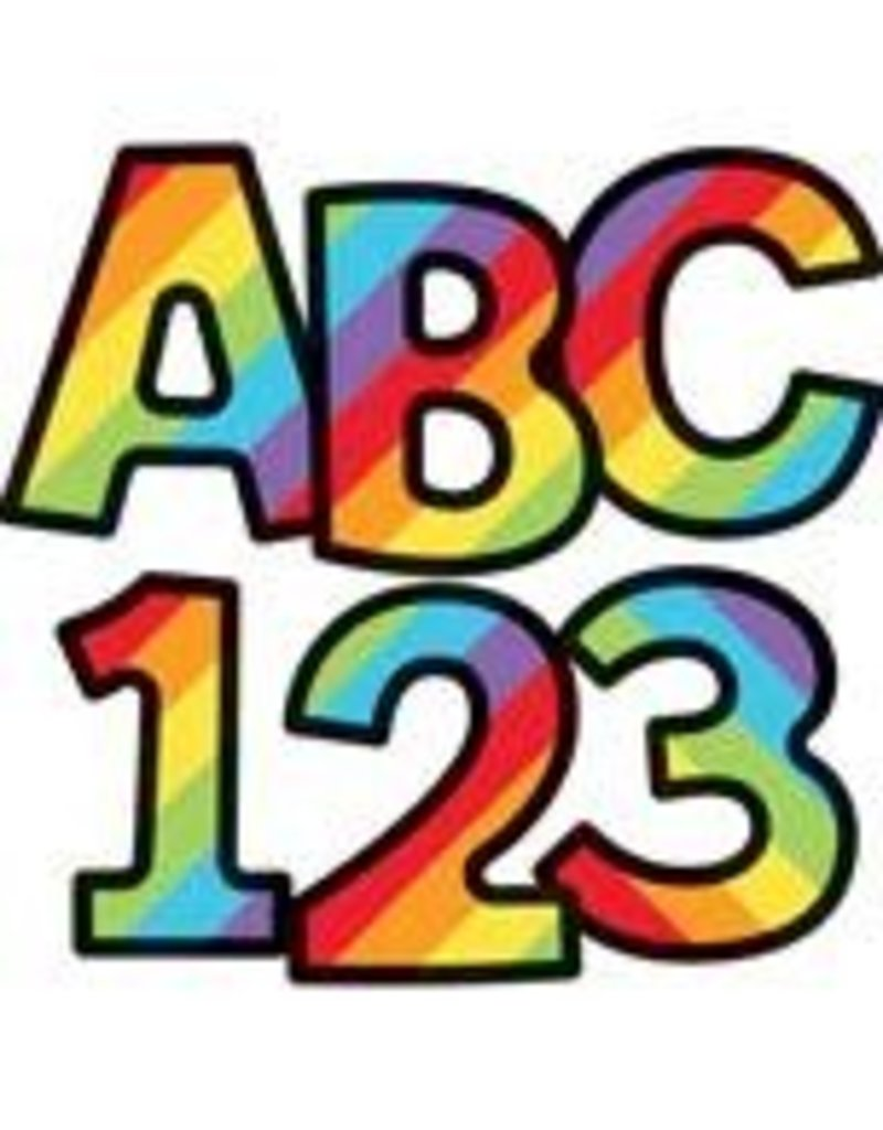 "Celebrate Learning Rainbow Stripe Combo Pack 4"" EZ Letters"