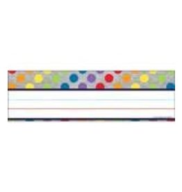 Rainbow Dots on Glitter Nameplates
