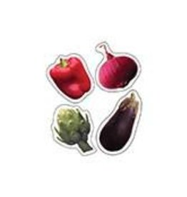 Shape Stickers Vegetables: Photographic