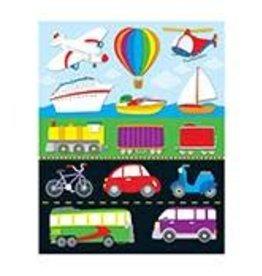Transportation Shape Stickers