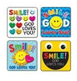 Smile, God Loves You! Scripture Stickers