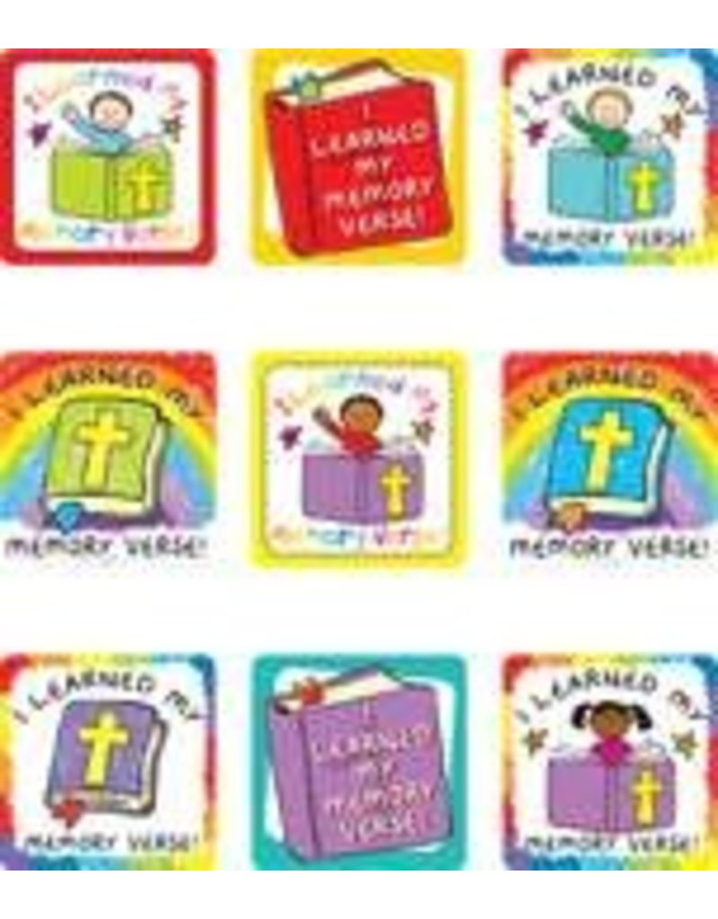 I Learned My Memory Verse! Scripture Stickers