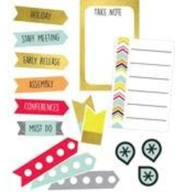 Aim High Shape Stickers Planner Accents