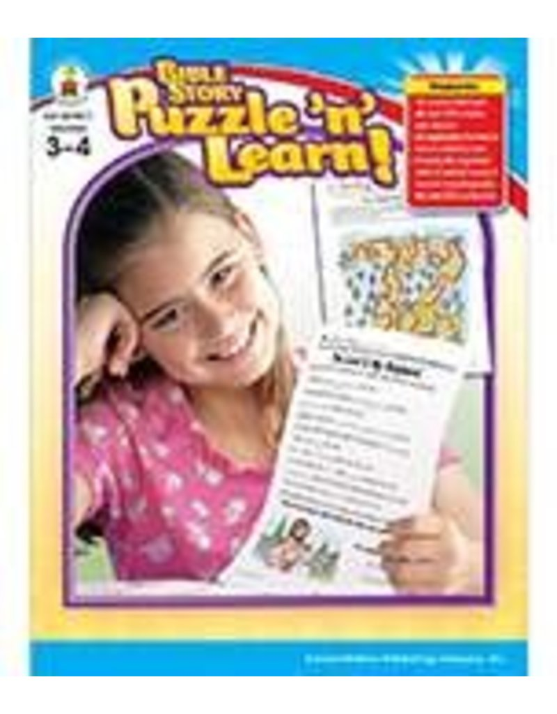 Bible Story Puzzle 'n' Learn! (3–4) Book
