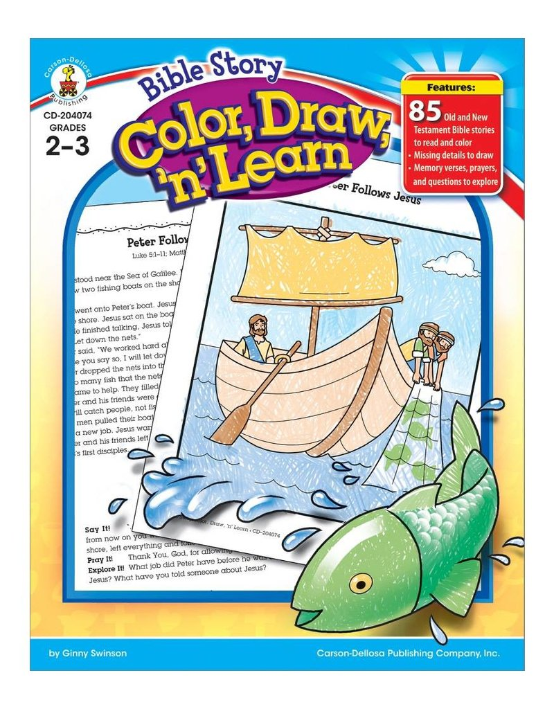 Bible Story Color, Draw, 'n' Learn! (2–3) Book