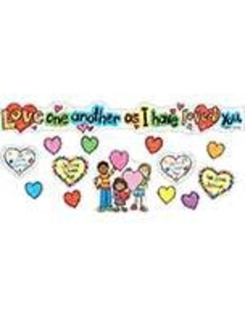 Love One Another: KidDrawn Mini Bulletin Board Set