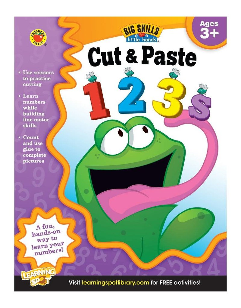 Big Skills for Little Hands®: Cut & Paste 123s (Ages 3+) Book