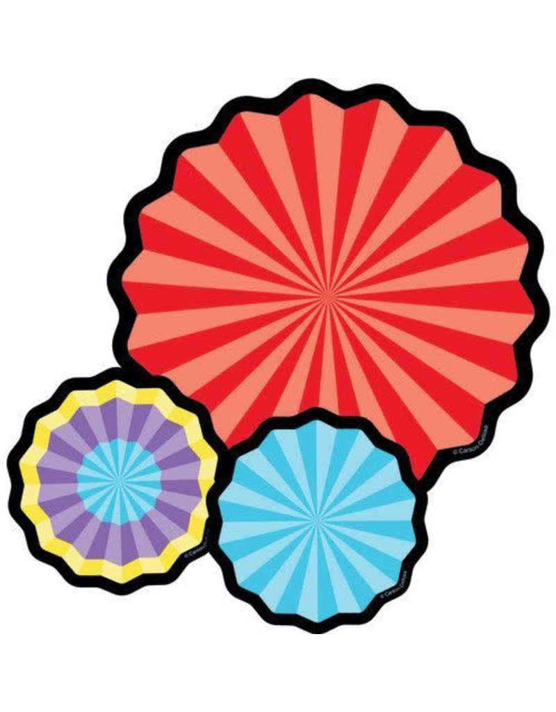 Celebrate Learning Fans Colorful Cut-Outs Assorted