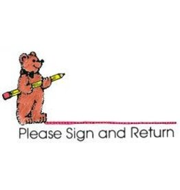 *Please Sign and Return Bear Stamp