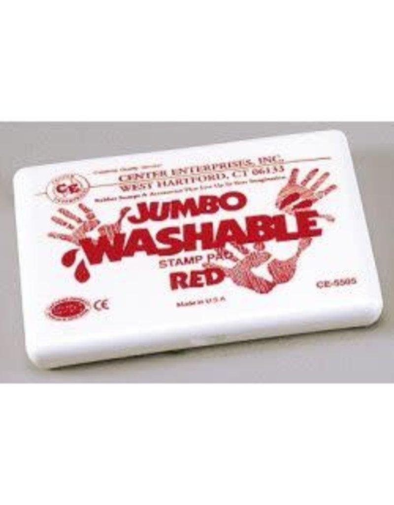Jumbo Washable Pad: Red