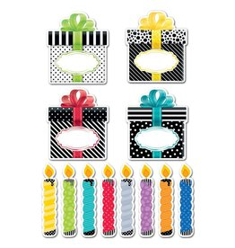 "Bold & Bright Birthday Party 6"" Cut-Outs"