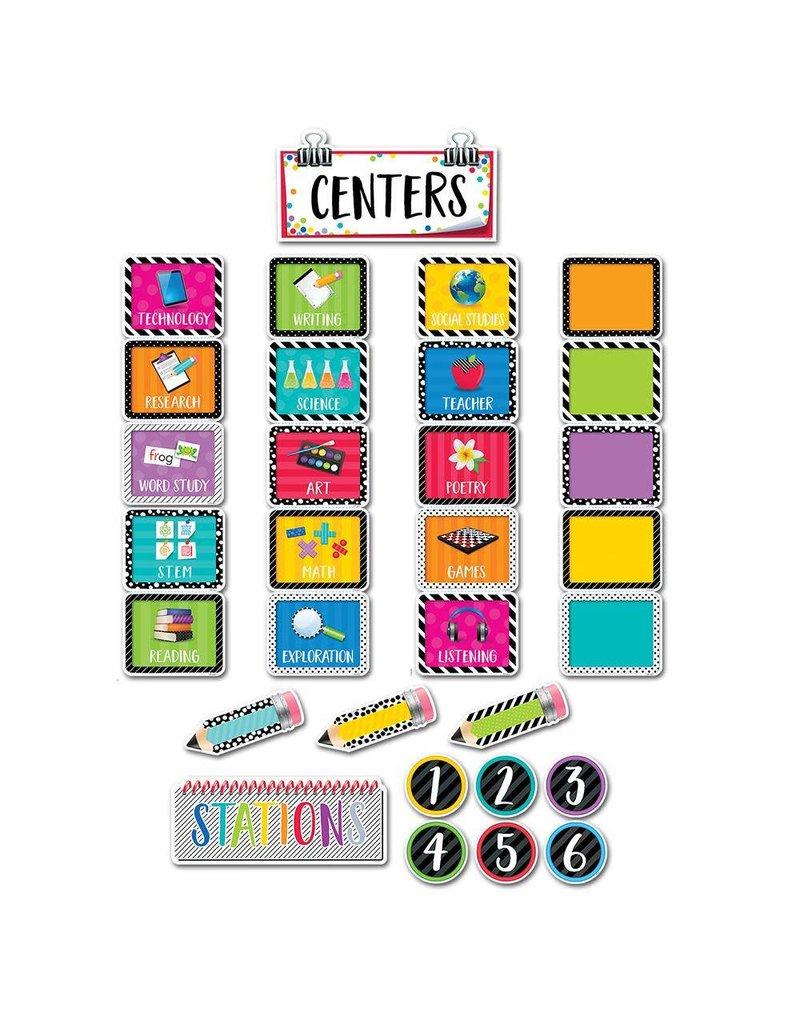 Bold & Bright Classroom Centers Mini Bulletin Board
