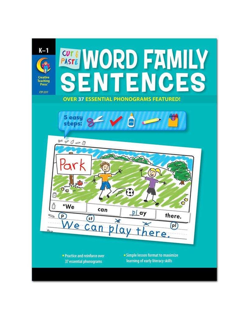 Cut & Paste Word Family Sentences