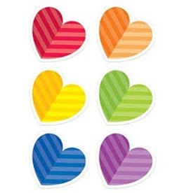 "Rainbow Hearts 6"" Cut-outs"