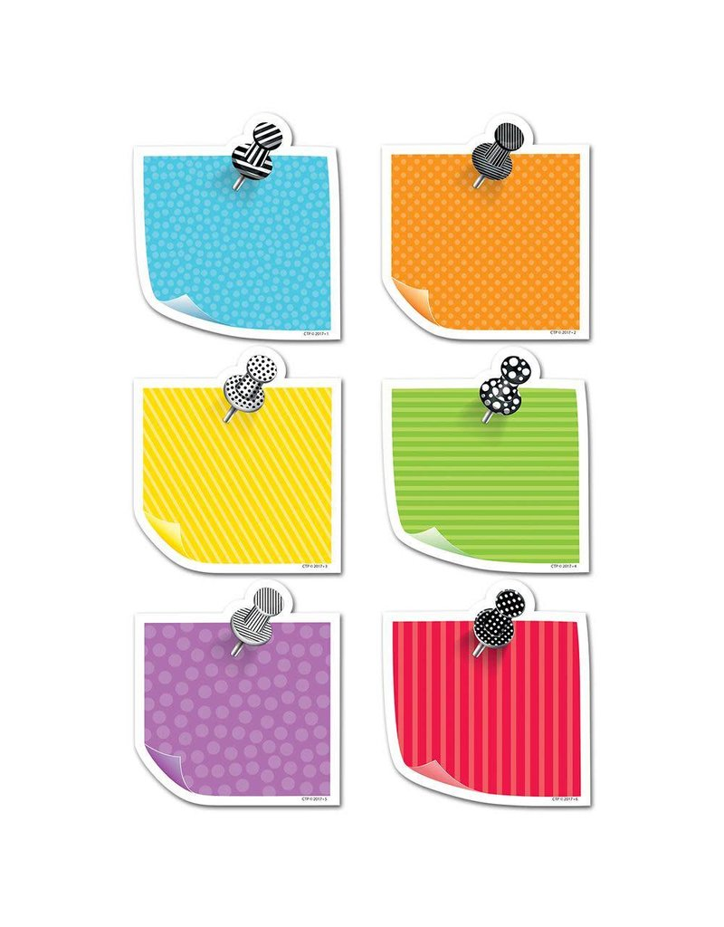 "Bold & Bright Sticky Notes 6"" Cut-Outs"