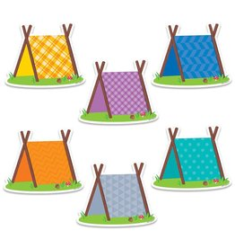 """Woodland Pup Tents 6"""" Cut-Outs"""