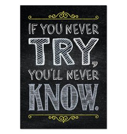 If you never try… Inspire U Poster