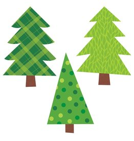 Patterned Pine Trees Bulletin Board Set