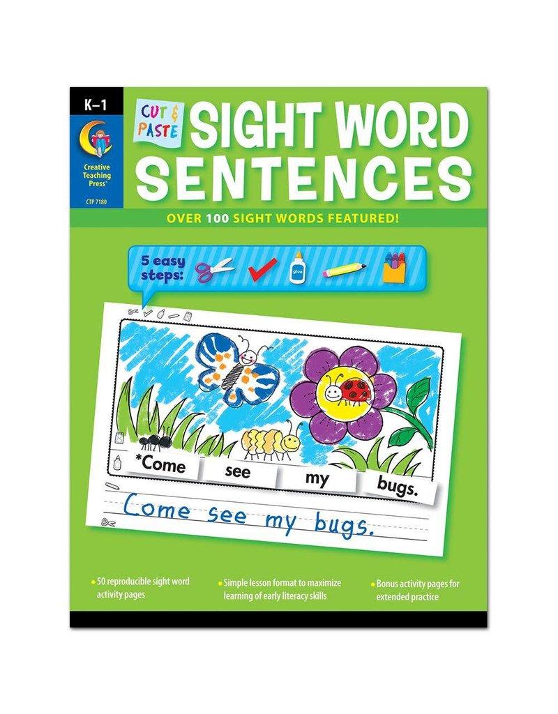 Cut & Paste Sight Word Sentences