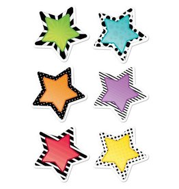 "Bold & Bright Stars 3"" Cut-Outs"