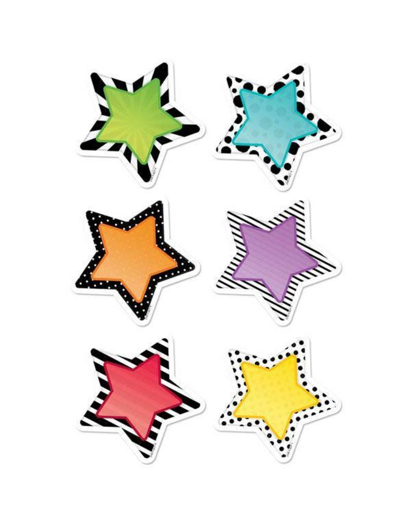 "Bold & Bright Stars 3"" Cut-Outs"