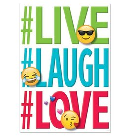 Live Laugh Love Emoji Poster