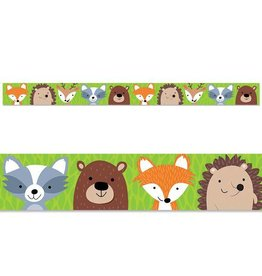 Woodland Animals Straight Border