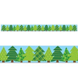 Patterned Pine Tree Border
