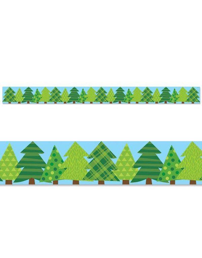 Patterned Pine Tree Border