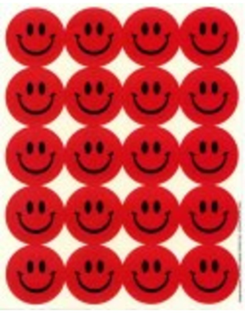 Strawberry Smiley Face Stickers
