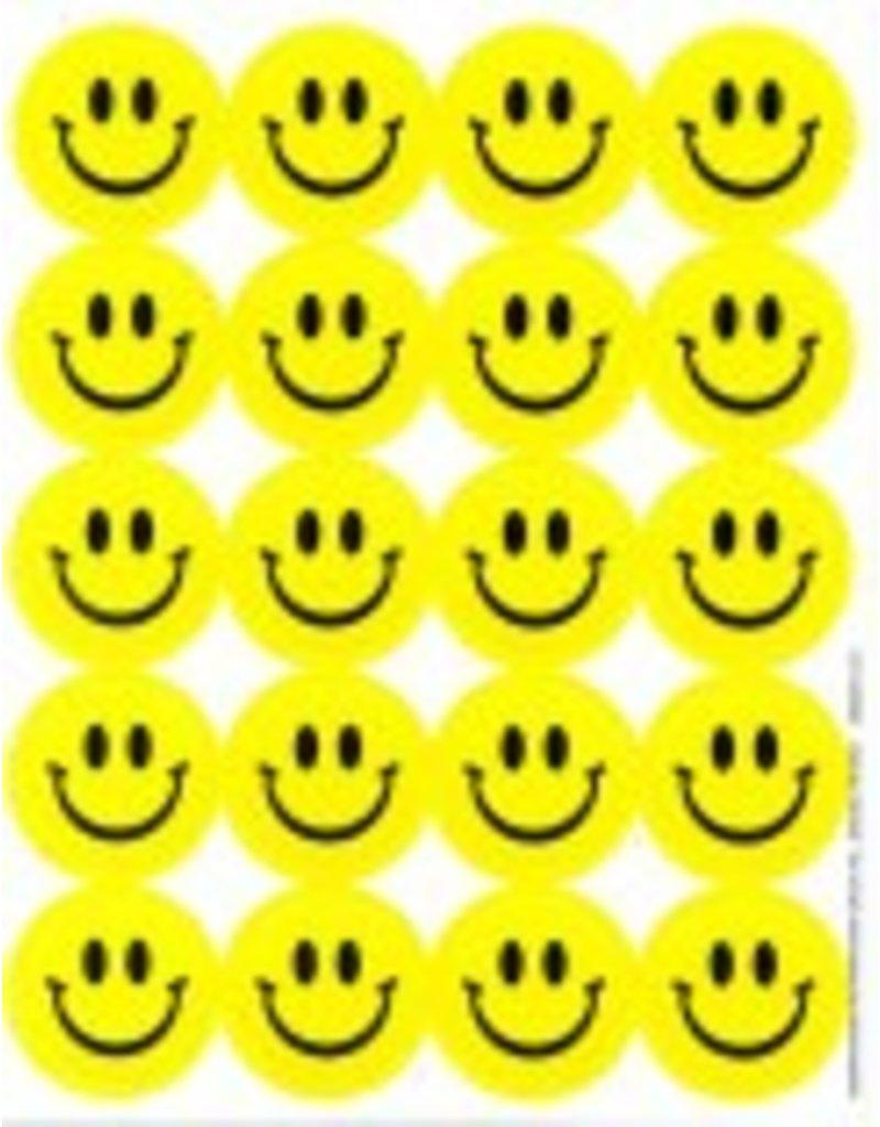Lemon smiley face stickers