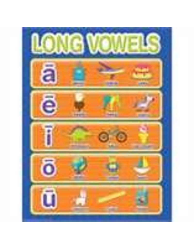 Color My World Basic Learning - Long Vowels Chart