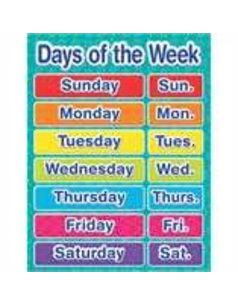 Color My World Basic Learning - Days of the Week