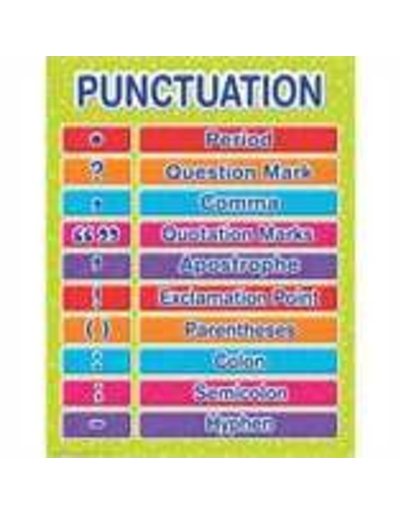 Color My World Basic Learning - Punctuation Chart