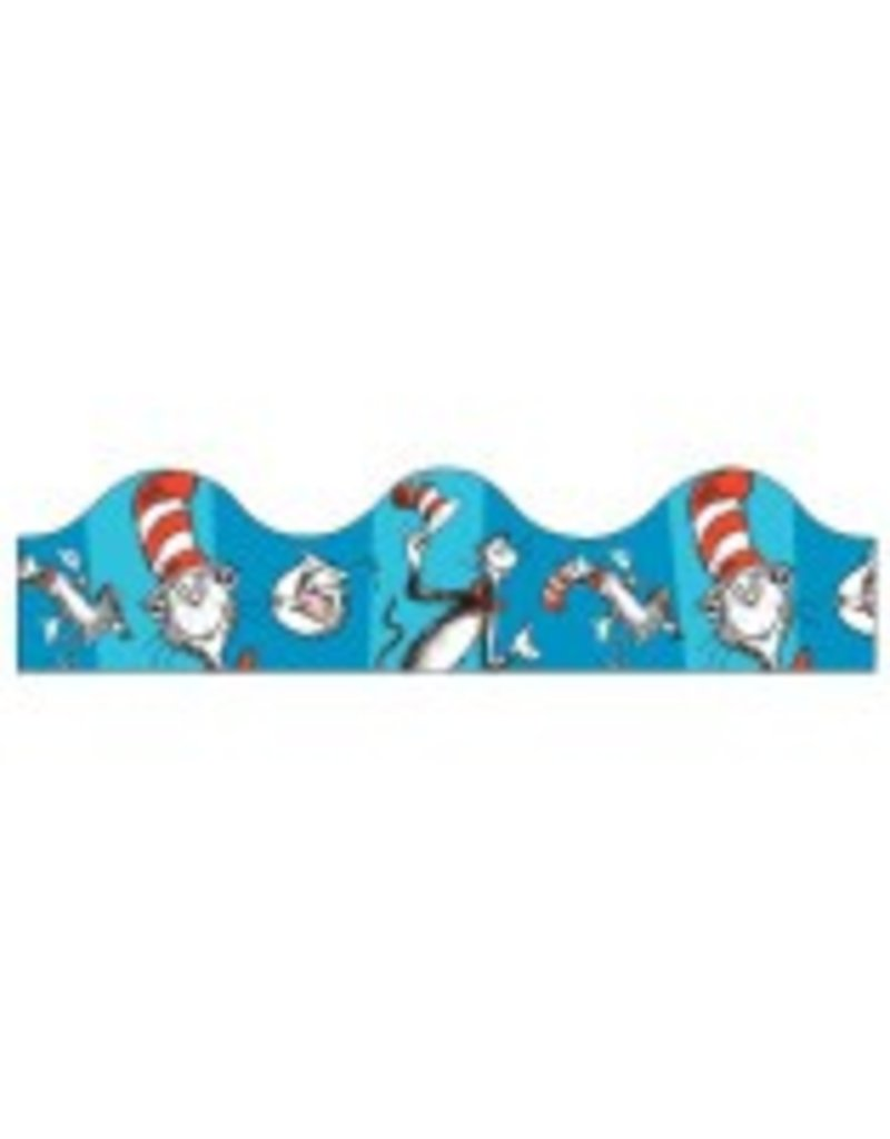 Cat in the Hat Blue Scalloped Border