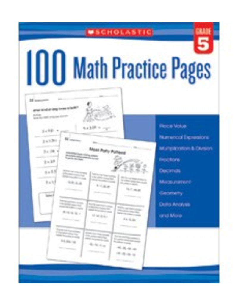 100 Math Practice Pages: Grade 5