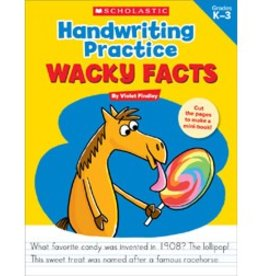 Handwriting Practice: Wacky Facts
