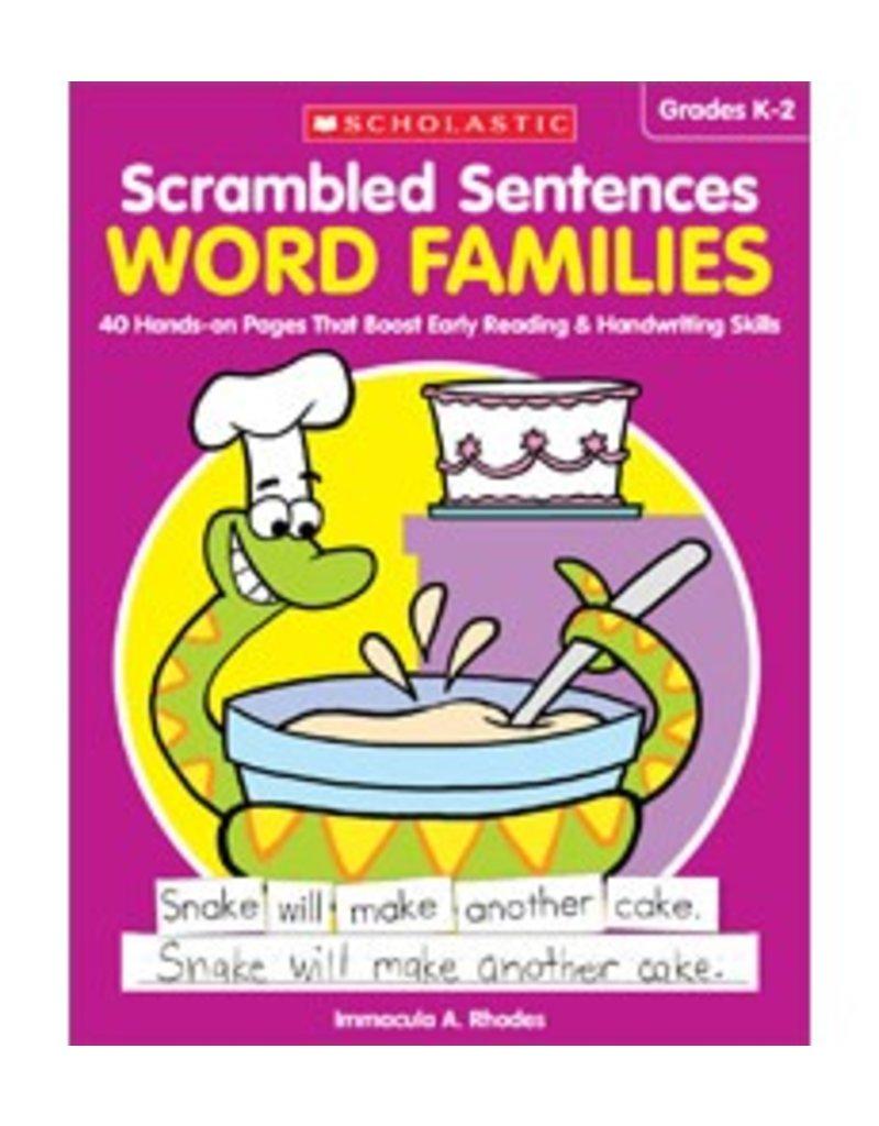 Scrambled Sentences: Word Families