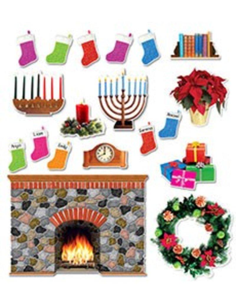 Holiday Hearth Bulletin Board Set