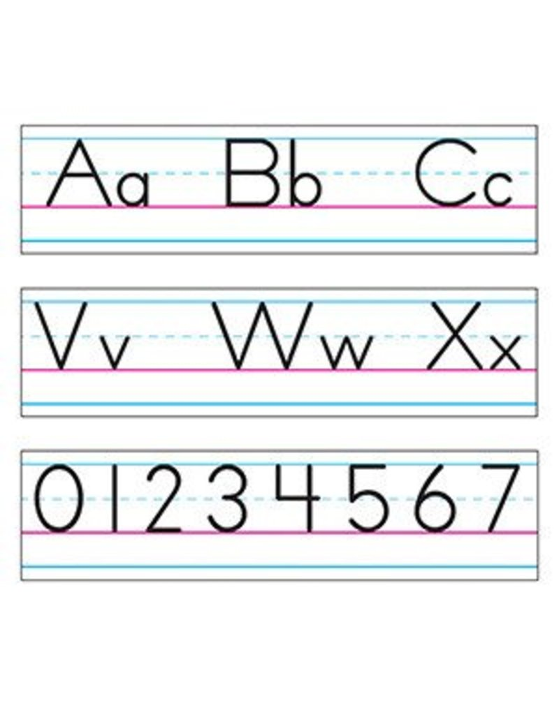 Basic Alphabet Zaner-Bloser Manuscript bulletin board