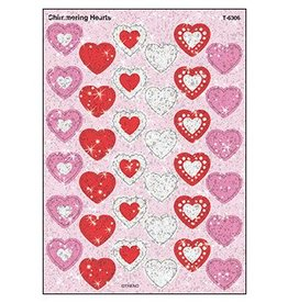 Shimmering Hearts Stickers