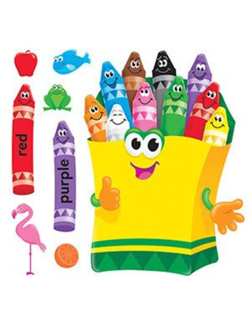 Colorful Crayons Bulletin Board