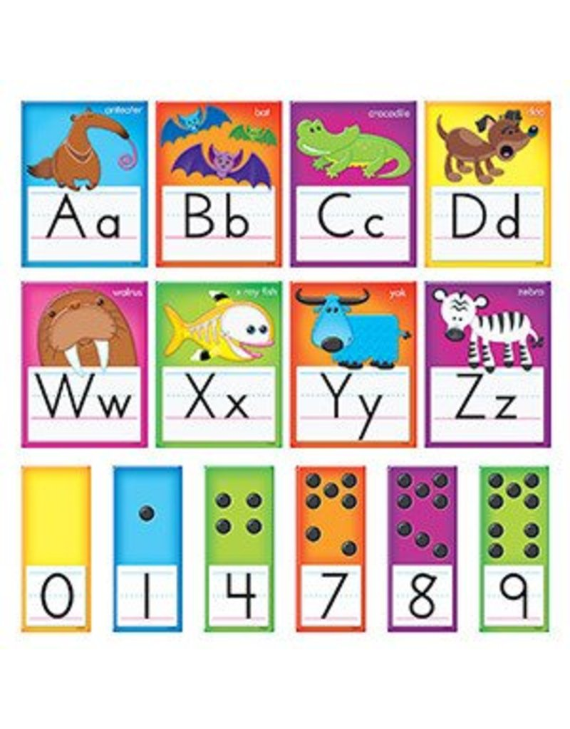 Awesome Animals Alphabet Cards Standard Manuscript Bulletin Board