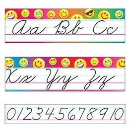 *Emoji Alphabet Line Standard Cursive