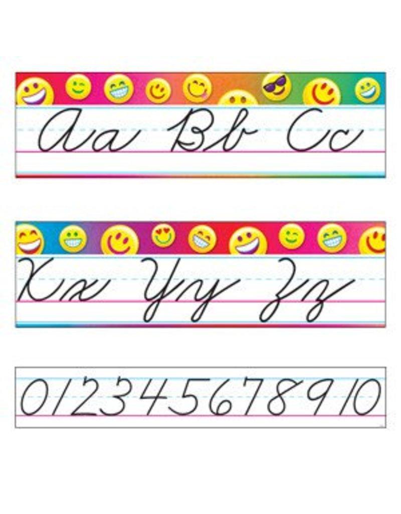 Emoji Alphabet Line Standard Cursive