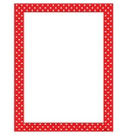 Polka Dots Red Computer Paper