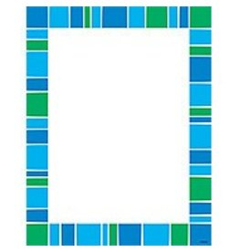 Stripe-tacular Cool Blue Computer Paper