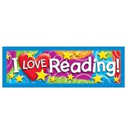 I LOVE Reading Stars 'n Swirls Bookmark